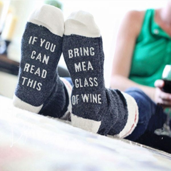 """Bring Me A Glass of Wine"" Socks"