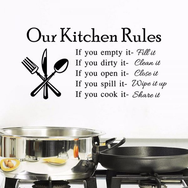 Kitchen Rules Decal 2