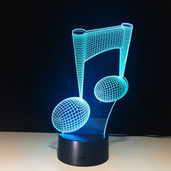 Music Note LED Lamp
