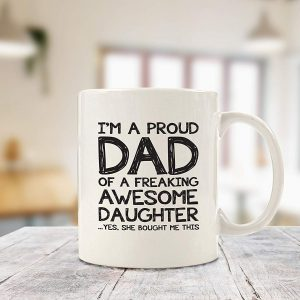 Details about  /I/'m A Proud Dad Of A Freaking Awesome Firefighter   Mug Firefighter/'s Dad Mug